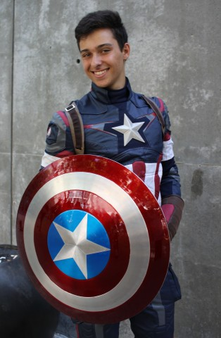 Daniel Curry (@danny_157) as Captain America. (Kaylee Fagan)